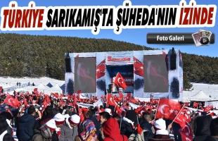 Türkiye Sarıkamış'ta 90 Bin Şehit İçin Yürüdü