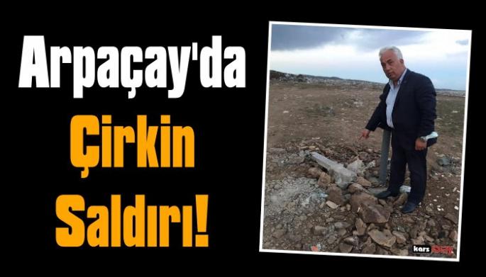 Arpaçay Belediyesinin hizmetlerine saldırı!