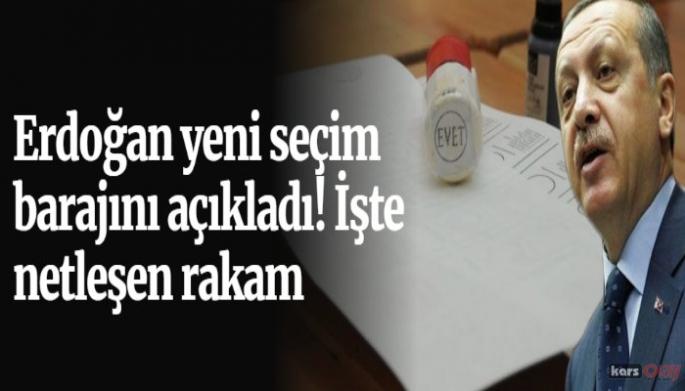 Cumhurbaşkanı Erdoğan Seçim Barajını Açıkladı