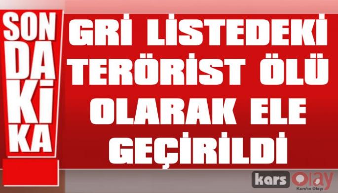 Gri Listedeki Terörist Ölü Ele Geçirildi