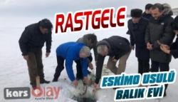 Bakan Ersoy, Çıldır Gölü'nde Eskimo Usulü Balık Avladı