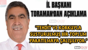 Başkan Toraman, açıklamalarda bulundu.