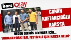 CHP İstanbul İl Başkanı Canan Kaftancıoğlu Kars'ta