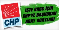 CHP Kars İçin Başkan Aday Adaylarını Açıkladı