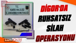 Digor'da Ruhsatsız Silah Operasyonu