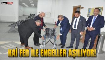 Erdoğan Yıldırım  Selim Belediye Başkanı Coşkun Altun'u ziyaret etti .