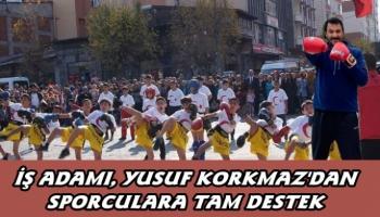 İşadamı Yusuf Korkmaz'dan Kağızmanlı  sporculara destek