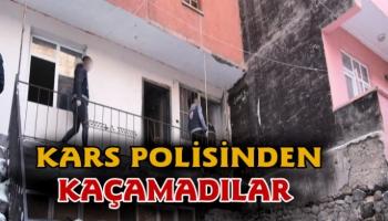 Kaçak göçmenler Kars polisinden kaçamadı