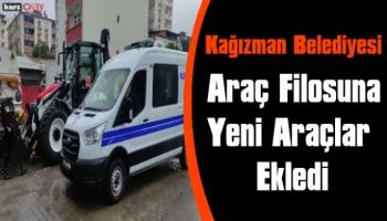 Kağızman Belediyesi Araç Filosuna Yeni Araçlar Ekledi