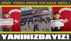 Kağızman'da Minik Yüreklilerden Mehmetçiğe Destek Videosu