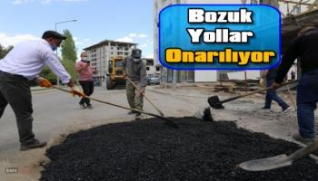 Kars Belediyesi Bozuk Yolları Onarıyor!