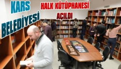 Kars Belediyesi Halk Kütüphanesi Açtı