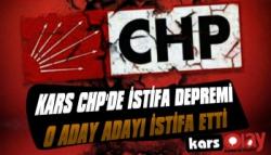 Kars CHP'de İstifa Depremi