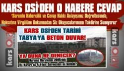 Kars DSİ'den Tabya Haberine Açıklama