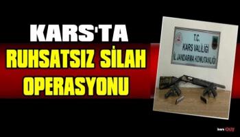 Kars Jandarmadan Ruhsatsız Silah Operasyonu!