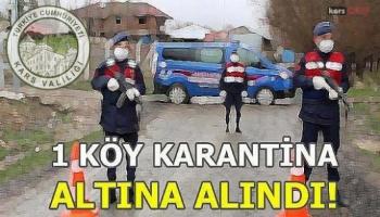 Kars-Kağızman Aydınkavak Köyü Karantinaya Alındı