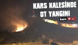 Kars Kalesi'nde Ot Yangını