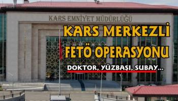 Kars merkezli FETÖ operasyonu, 5 gözaltı