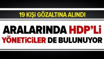 Kars Merkezli, PKK operasyonu, 19 Gözaltı