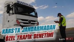 Kars'ta Jandarma'dan Özel Trafik Denetimi