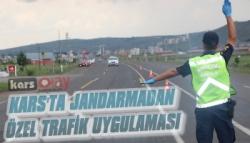 Kars'ta Jandarma'dan 'Türkiye Özel Trafik Uygulaması'