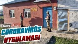 Kars'ta Jandarmadan Coronavirüs Uygulaması