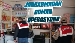 Kars'ta Jandarmadan Duman Operasyonu