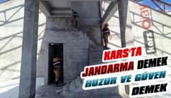 Kars'ta Jandarmadan Huzur ve Güven Uygulaması