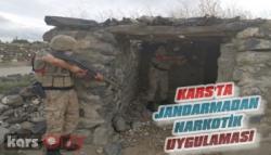 Kars'ta Jandarmadan Narkotik Uygulaması