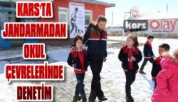 Kars'ta Jandarmadan Okul Çevrelerinde Denetim