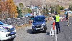 Kars'ta Jandarmadan Trafik Denetimi