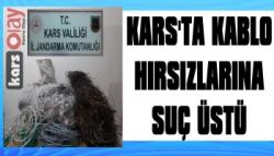 Kars'ta Kablo Hırsızlarına Suç Üstü