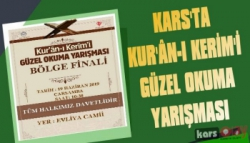 Kars'ta Kur'an-ı Kerim'i Güzel Okuma Yarışması