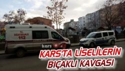 Kars'ta Liselilerin Bıçaklı Kavgası