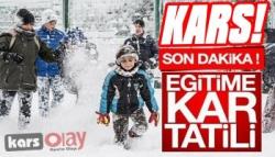 Kars'ta Okullar Yarın Tatil Edildi