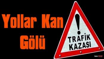 Kars'ta Trafik Kazası, 1 Ölü 4 Yaralı!