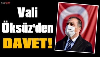 Kars Valisi Türker Öksüz'den Davet!