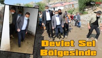 Kars Valisi Türker Öksüz Sarıkamış Sel Bölgesinde
