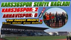 Kars36 Spor: 2 – Arhavispor: 0
