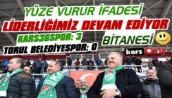 Kars36 Spor: 3 – Torul Belediyespor: 0
