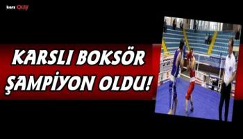 Karslı Milli Boksör Ilgar Çelik İstanbul  Şampiyonu oldu