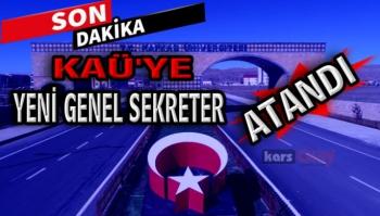 KAÜ'ye  yeni Genel Sekreter Atandı.