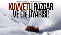 Meteoroloji'den Kars'a Çığ Uyarısı