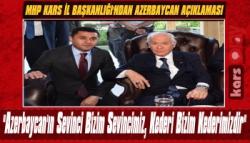 MHP Kars İl Başkanlığı'ndan Azerbaycan'a Destek Mesajı