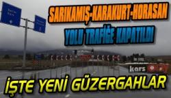 Sarıkamış-Karakurt-Horasan Yolu Trafiğe Kapatıldı
