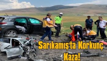 Sarıkamış'ta Korkunç Kaza, 9 Yaralı!