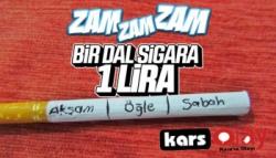 Sigaraya 3 Lira Zam!