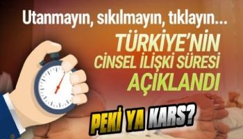 Türkiye'nin cinsel ilişki süresi açıklandı!