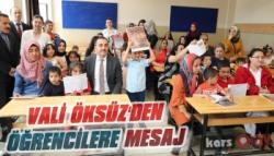 Vali Öksüz'den Öğrencilere Mesaj