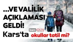 Yarın Kars'ta Okullar Tatil mi?